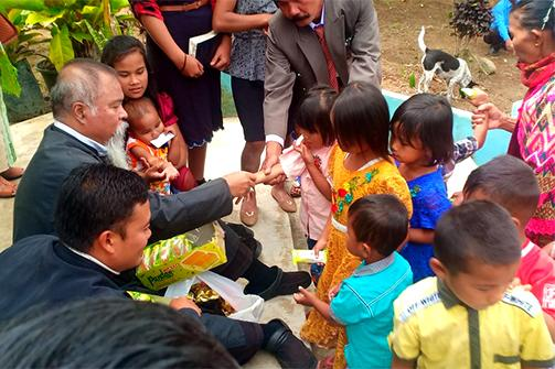 Orthodox mission priest in Indonesia caring for youth