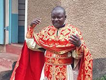 Orthodox mission priest in Ghana