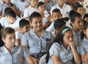 Students at a 2015 teaching team to Guatemala