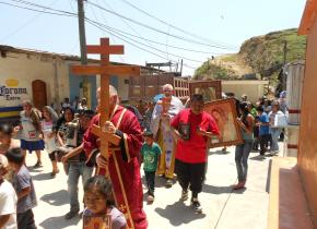 Orthodox procession in Mexico